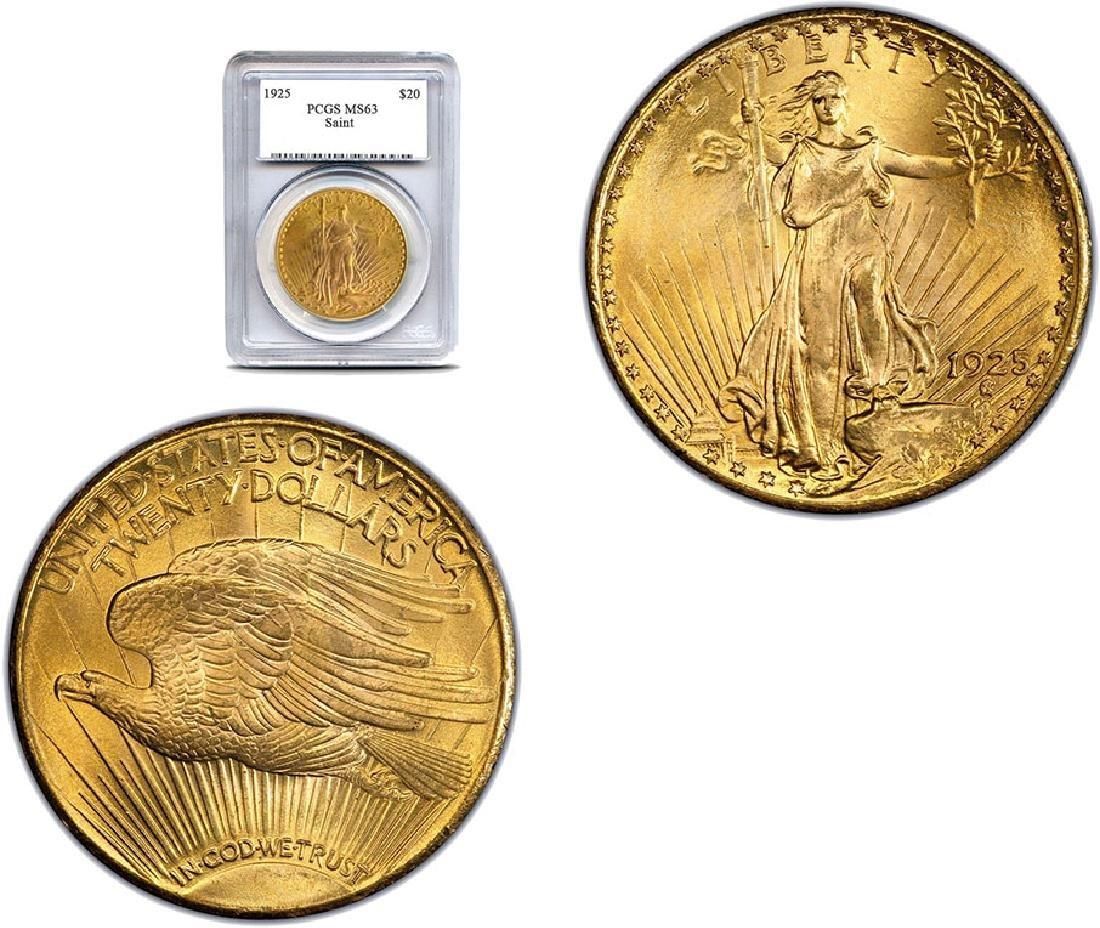 1925 MS 63 PCGS $20 Gold Saint Gaudens