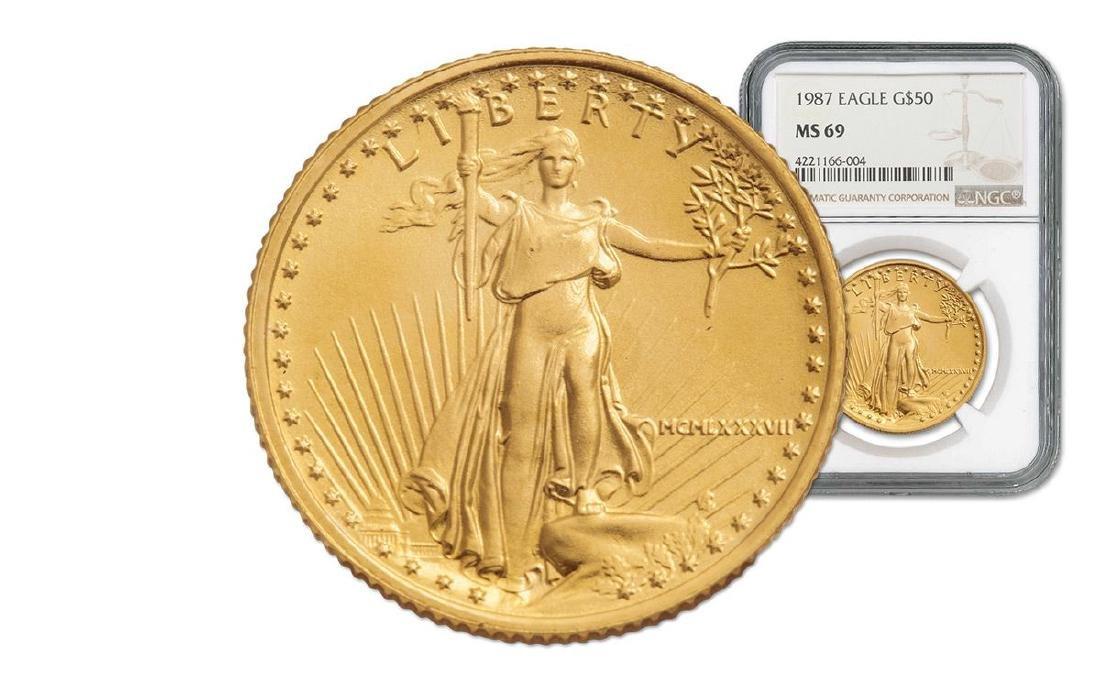 1987 MS 69 NGC $50 Gold Eagle