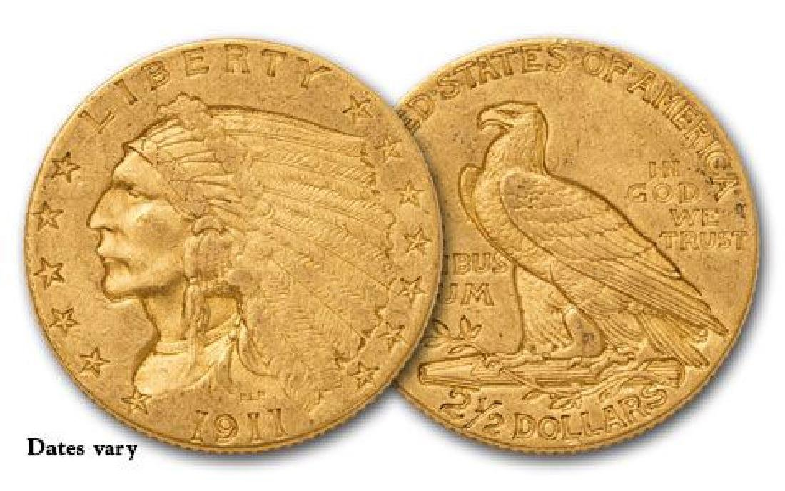 Random Common Date $2.5 Gold Indian