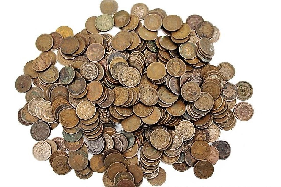 135 Indian Head Cents - Mixed Dates and Grades