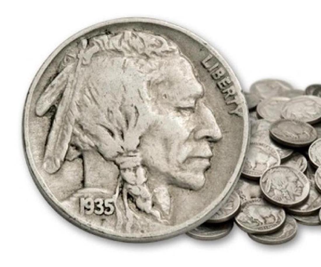 Roll of (40) Buffalo Nickels - Full Date