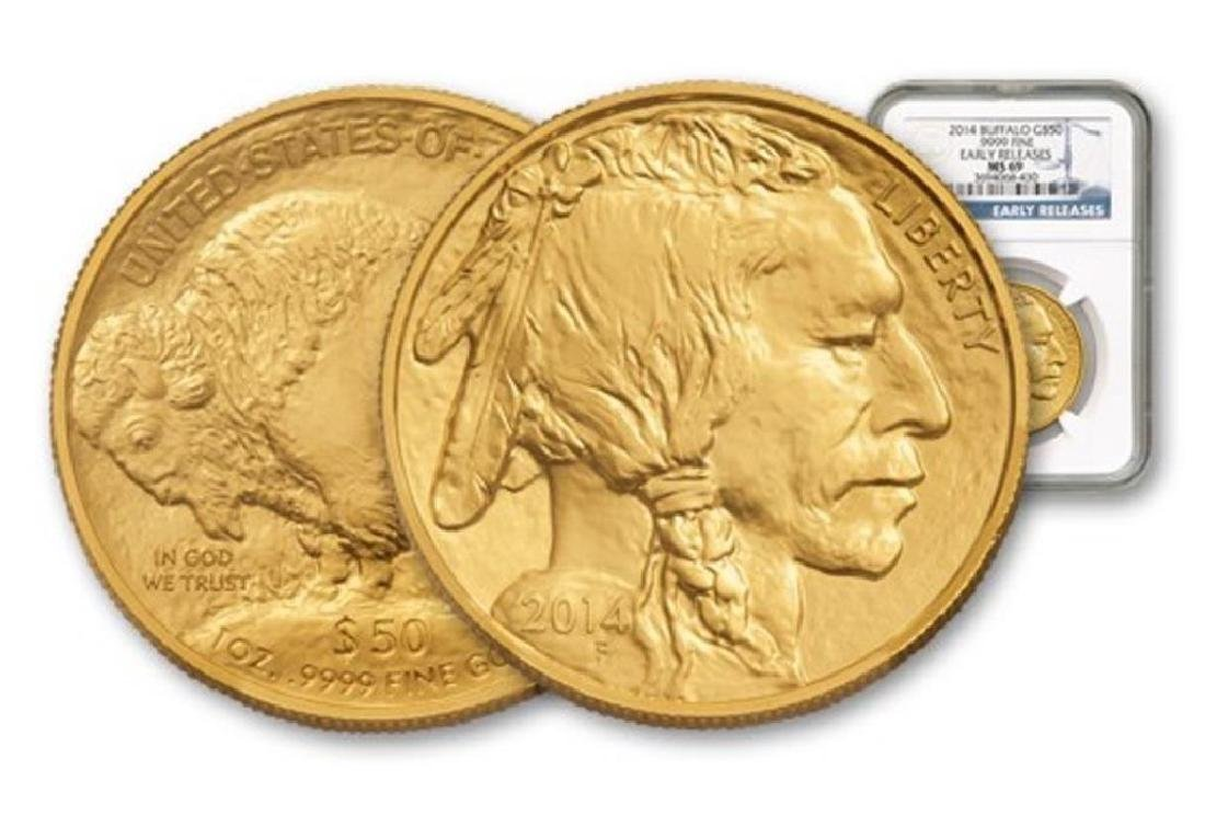 2014 MS69 Early Releases 1 oz. Buffalo Gold