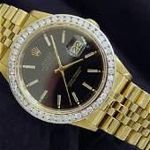 Mans ROLEX Datejust 18k YG Diamonds