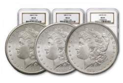 1882-83-84 MS 64 NGC Key Date US Silver Dollars