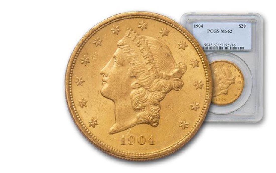 1904 MS 62 PCGS $20 Gold Liberty