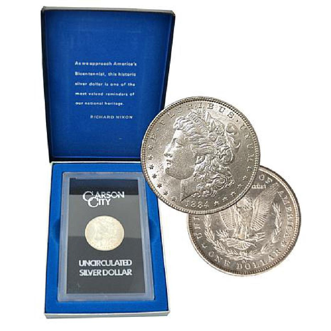 1884 CC GSA US Morgan Silver Key Date