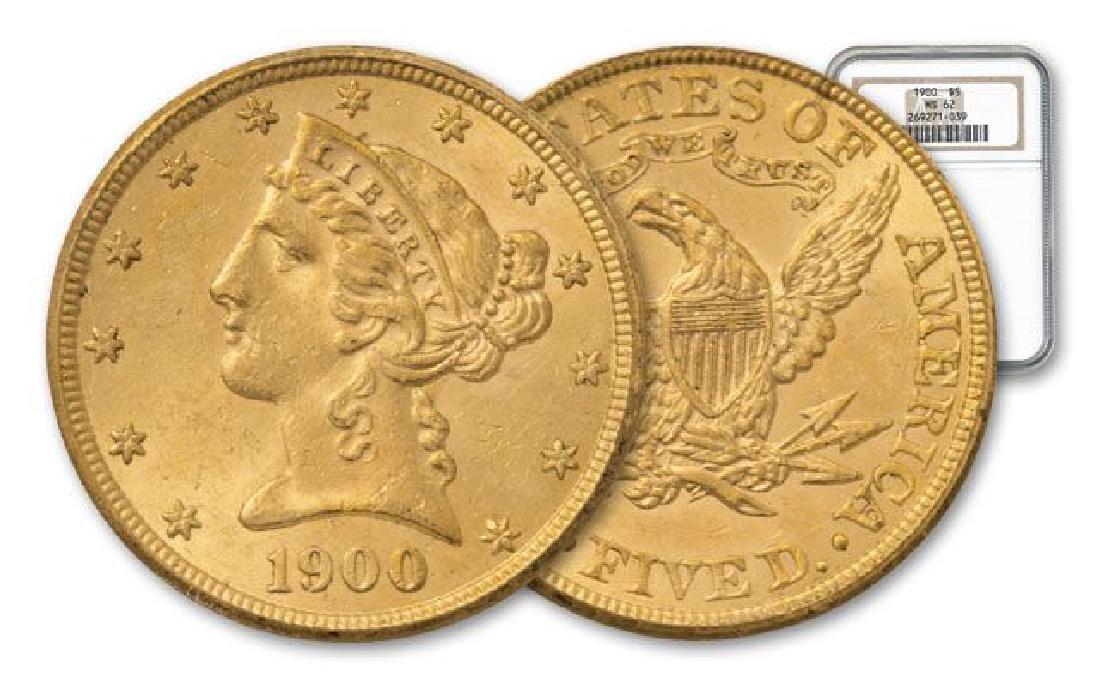 1900 MS 62 NGC $20 Gold Liberty