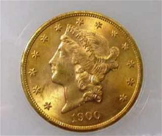 1900  $ 20 Gold Liberty