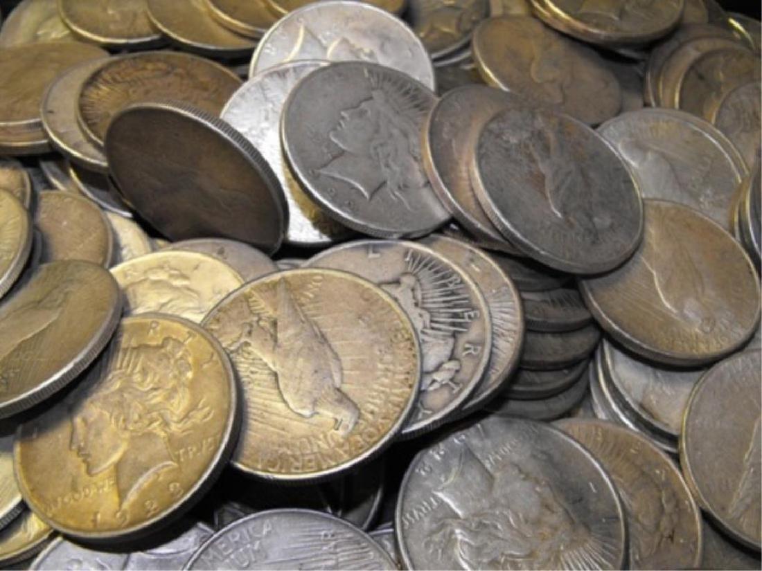 (100) Peace Dollars in Bag -