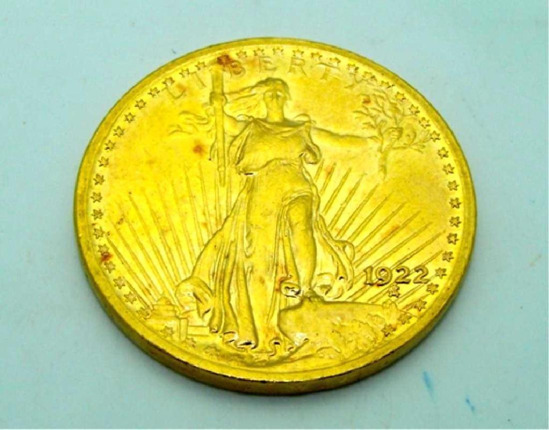 1922 Saint Gauden's $ 20 Double Eagle Gold Coin