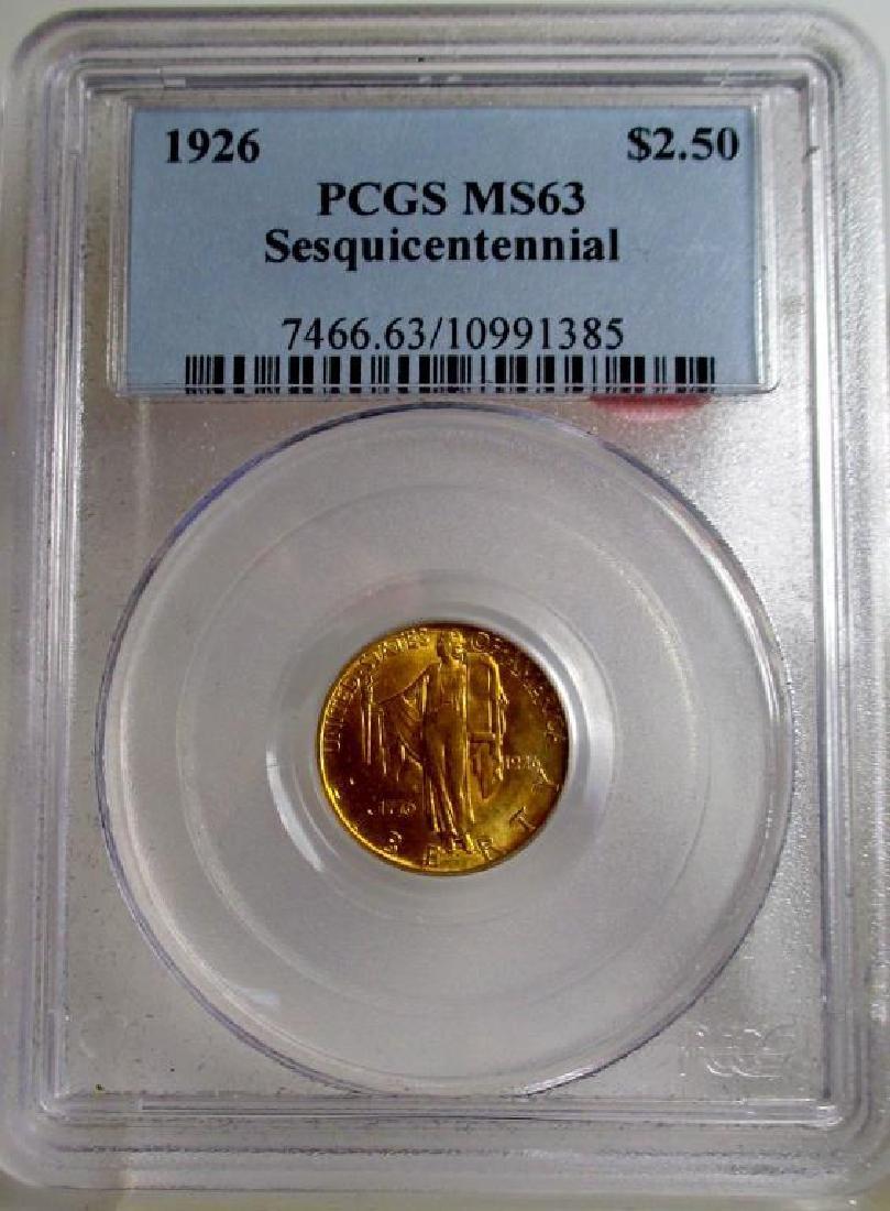 1926 MS 63 PCGS Sequicentennial $ 2.5 gold