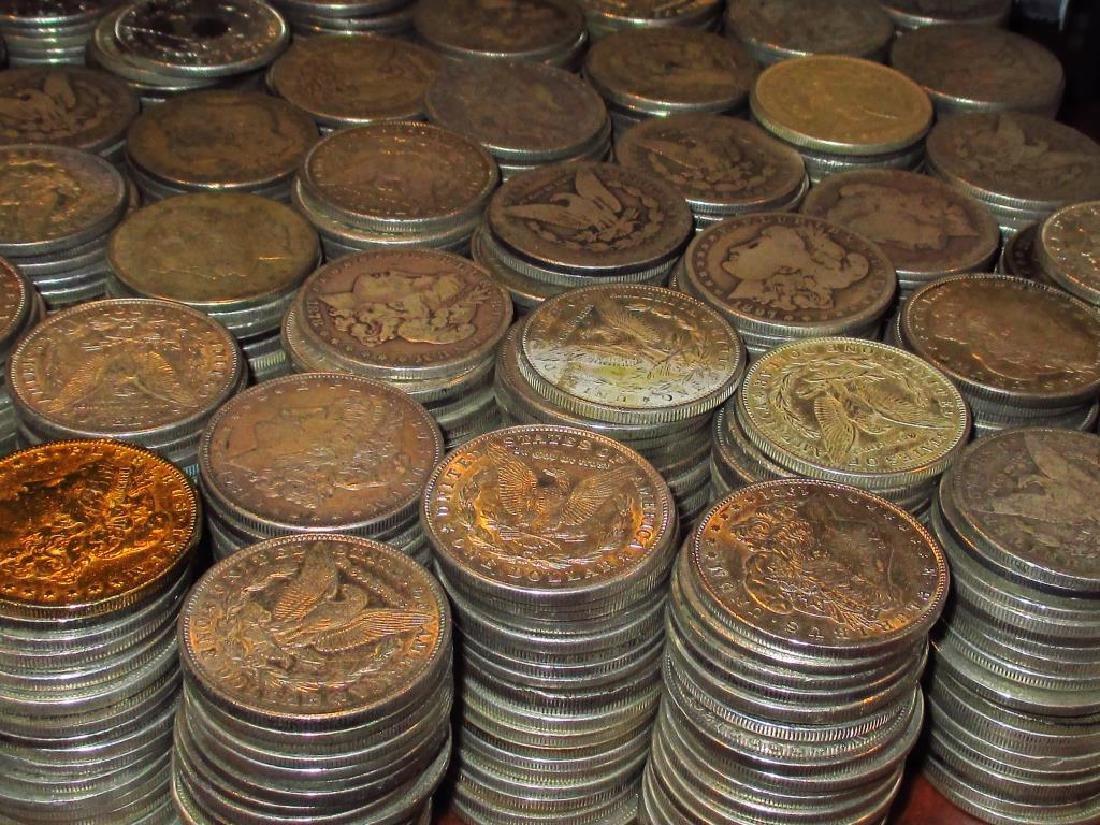 (500) Morgan Silver Dollars From Bank Bag