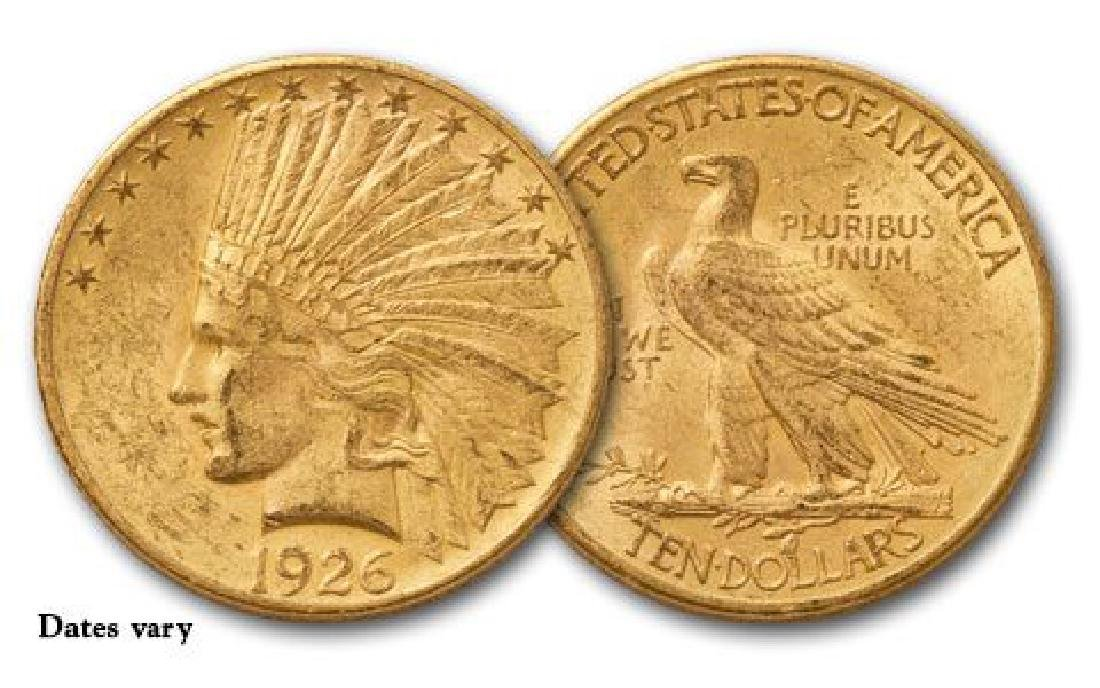 $10 Gold Indian Random Common Date XF-AU