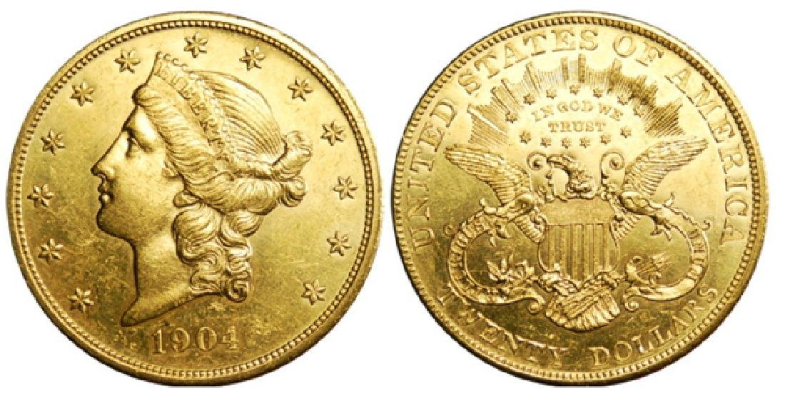 1904 CU Grade $20 Gold Liberty Double Eagle