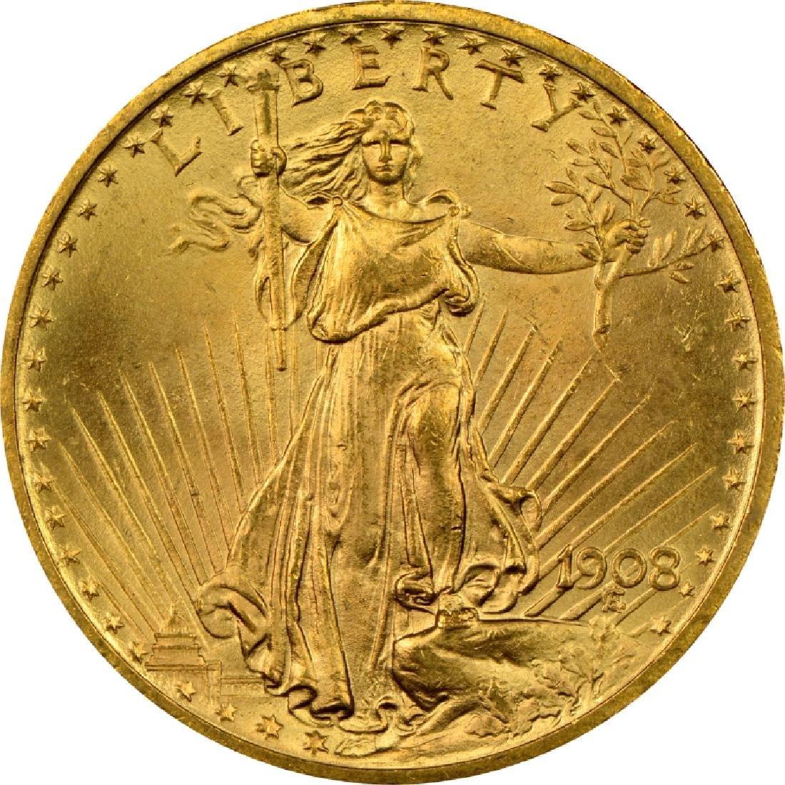 1908 NM $20 Gold Saint Gaudens