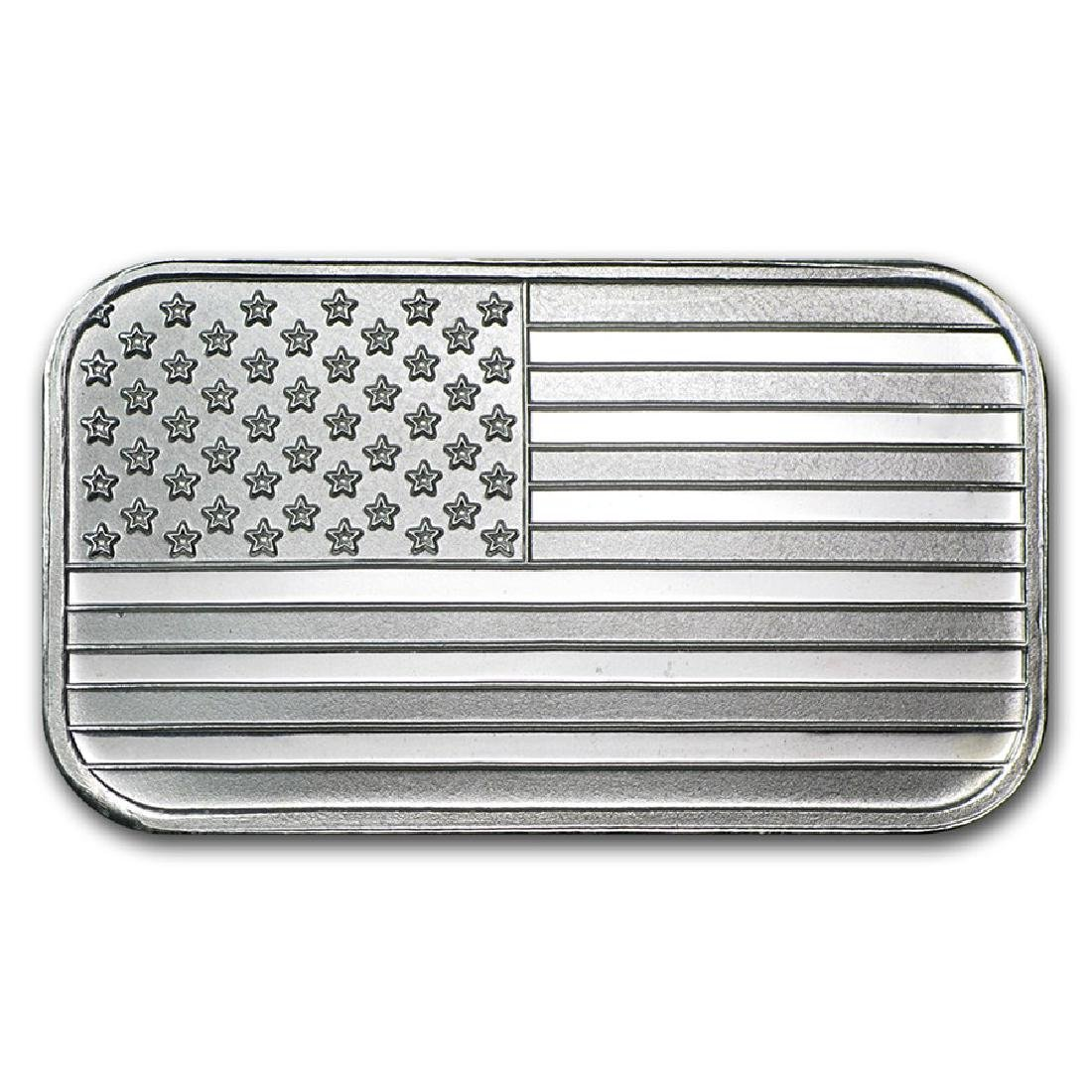 1 oz. USA Flag Silver Bar - .999 Pure