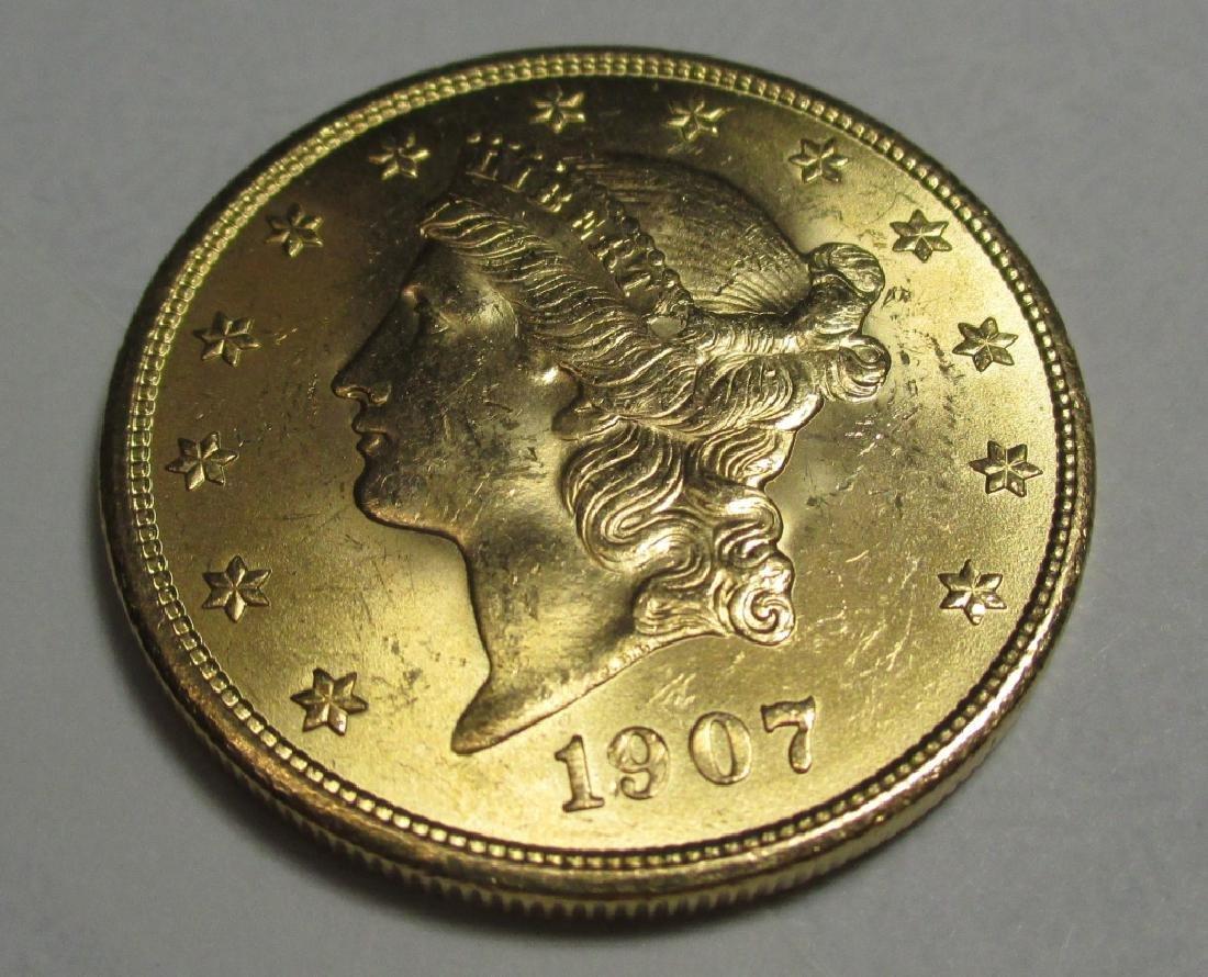 High Grade 1907 $20 Gold Liberty