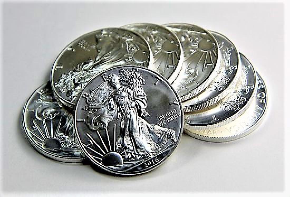 (8) US Silver Eagles Random Dates