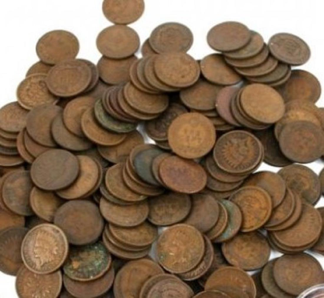 (100) Indian Head Cents - Mixed Dates and Grades