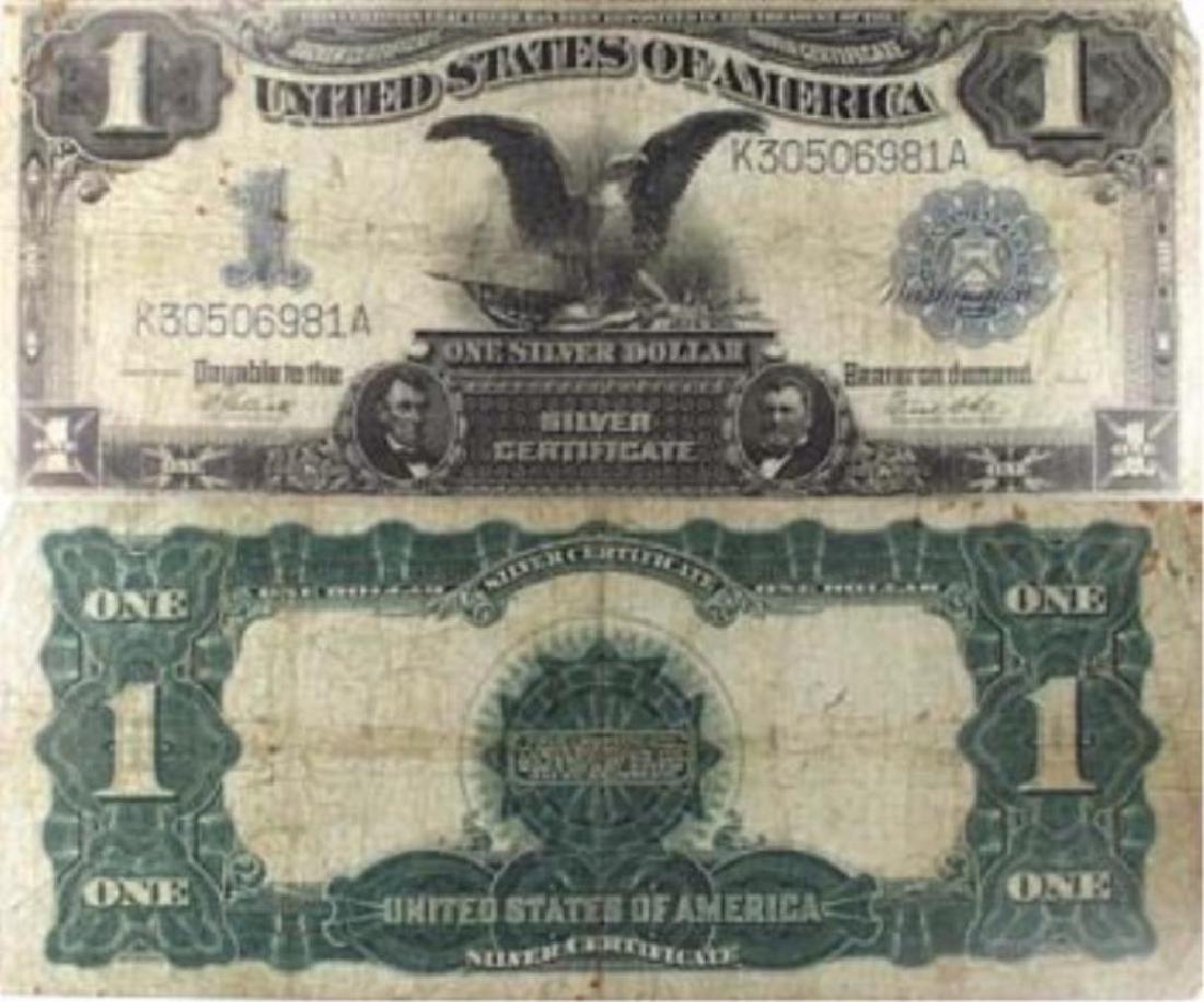 1899 $1 Silver Certificate Balck Eagle