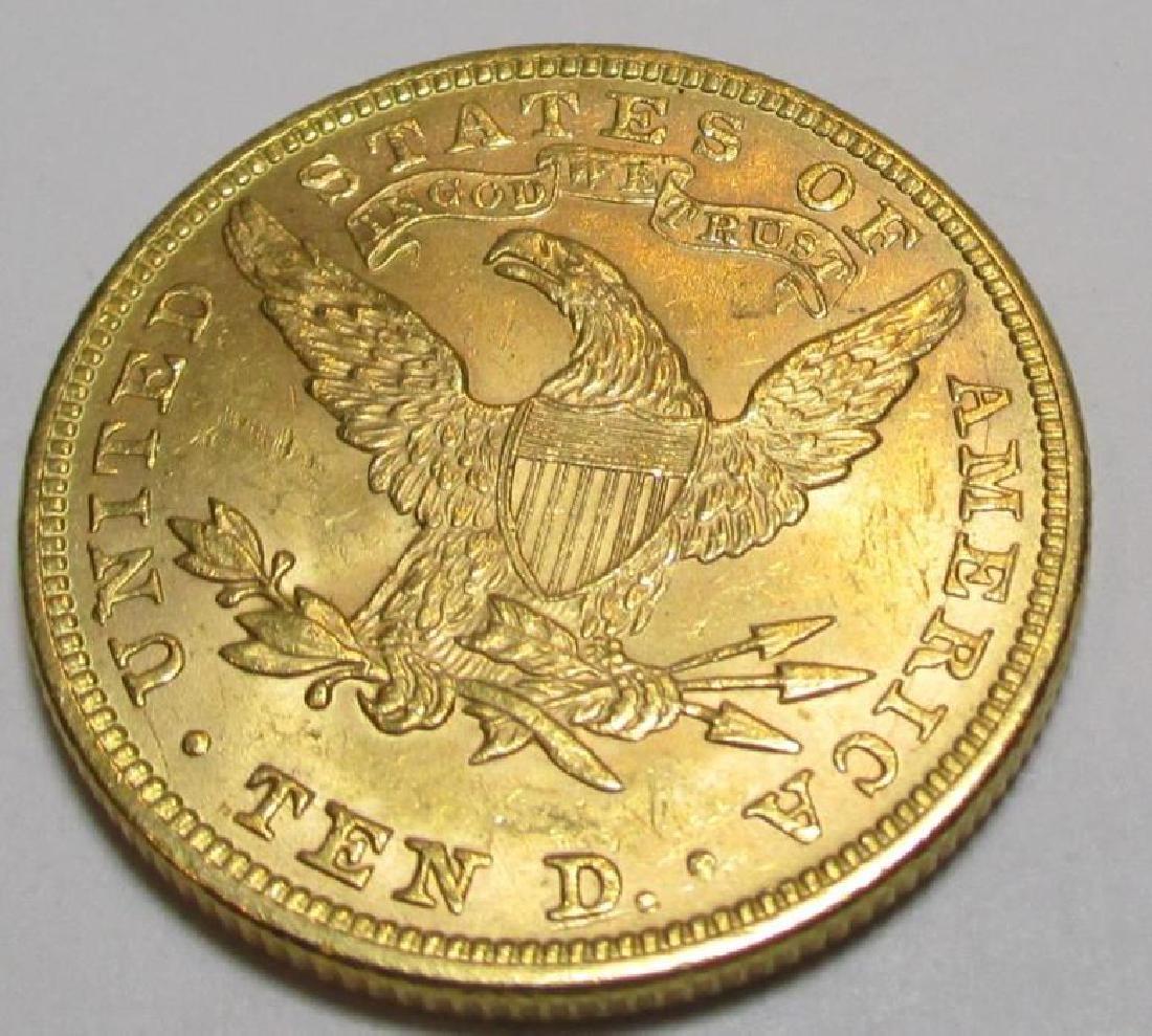 1894 $10 Gold Liberty Eagle Coin - 2