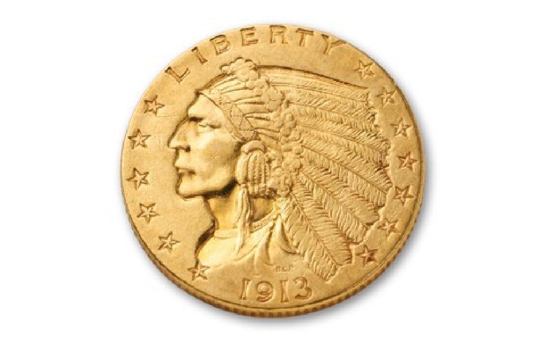 1913 $2.5 Gold Indian Quarter Eagle