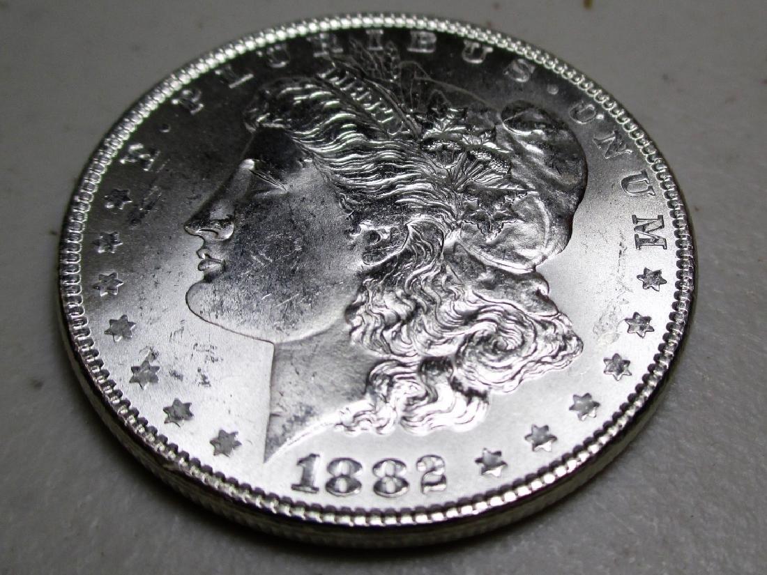 1882 P CH BU Morgan Silver Dollar