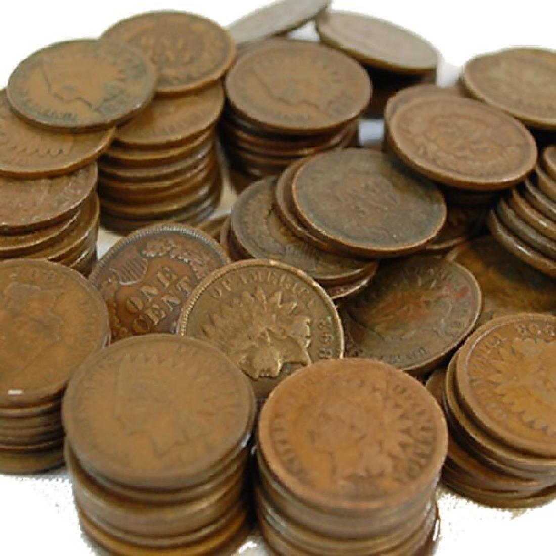 (100) Better Grade Indian Head Cents