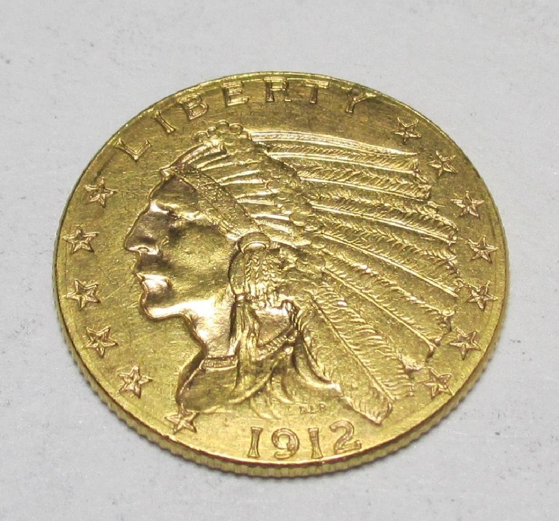 1912 $2.5 Gold Indian Quarter Eagle