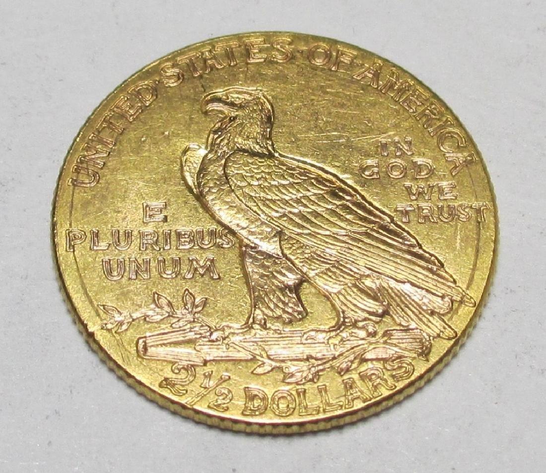 1912 $2.5 Gold Indian Quarter Eagle - 2