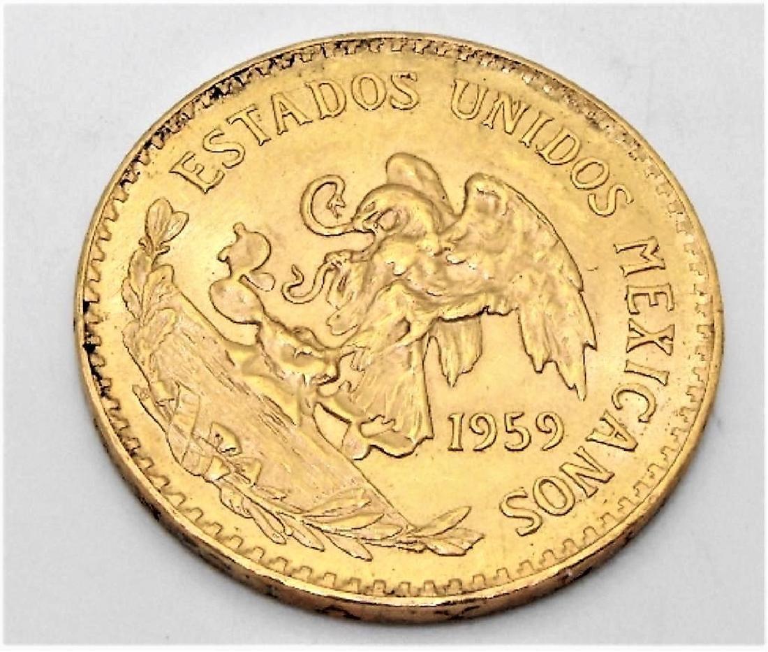 1959 Viente Peso Mexican Gold Coin