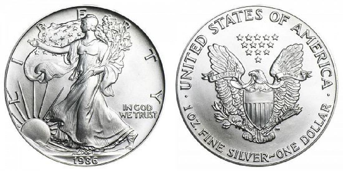 1986 1st year US Silver Eagle BU