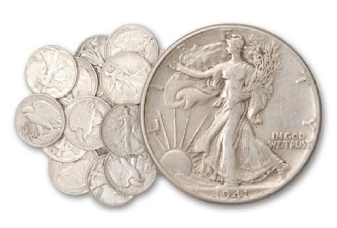 (20) Random Date Walking Liberty Halves 90% Silver