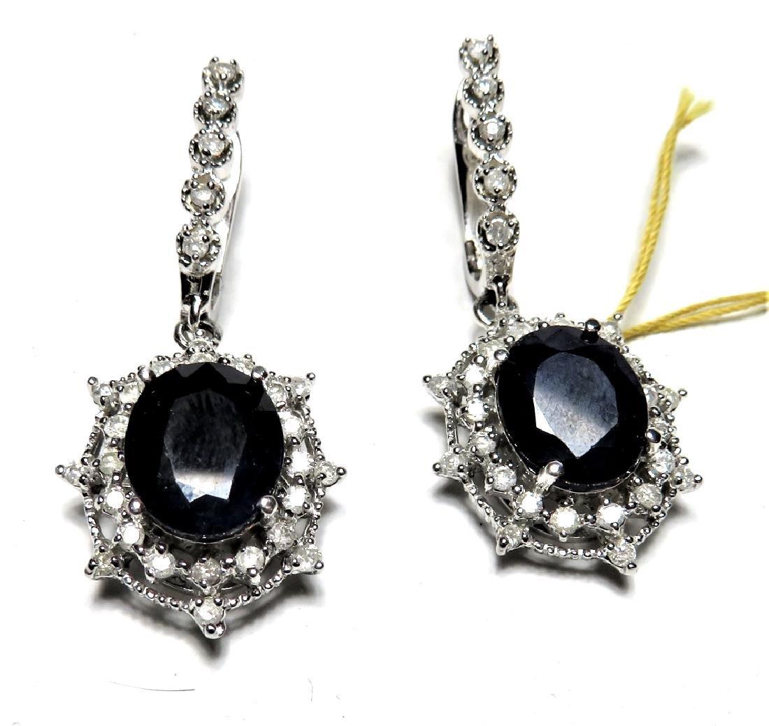Sapph. and Dia. Earrings in 14k $4400 App.