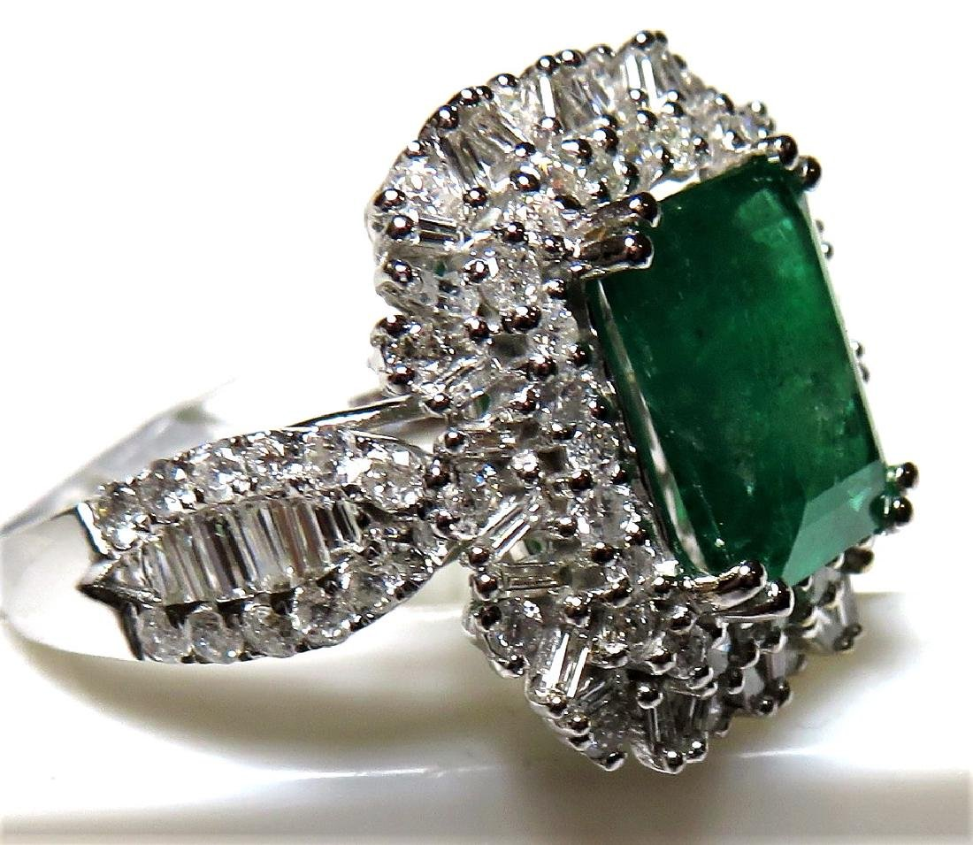 Super 2.61 ct. Emerald 1.44 ct. Dia. Ring $8350