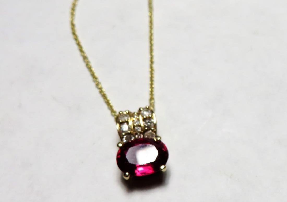 Delicate Ruby and Diamond Pendant  $1040