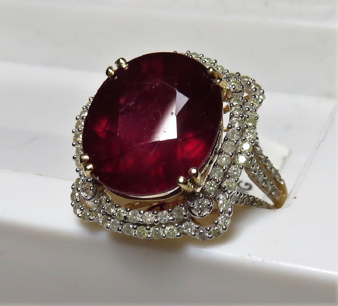 13.90 ct. Ruby and Diamond Ring $6020