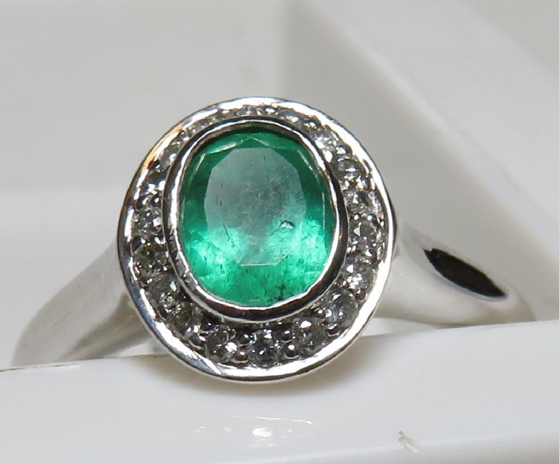 $2150 Emerald and Diamond Ring