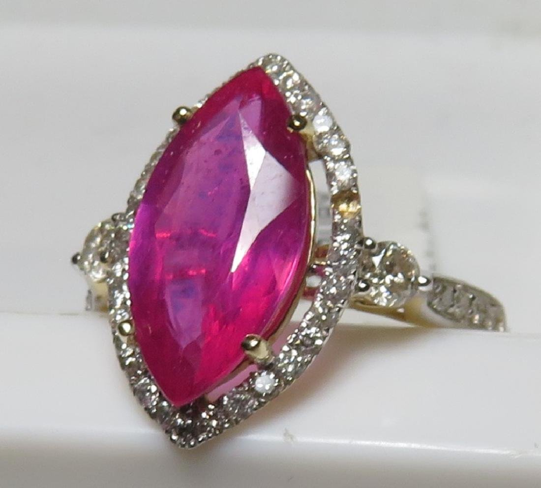 $3420 Superior Ruby and Diamond Ring