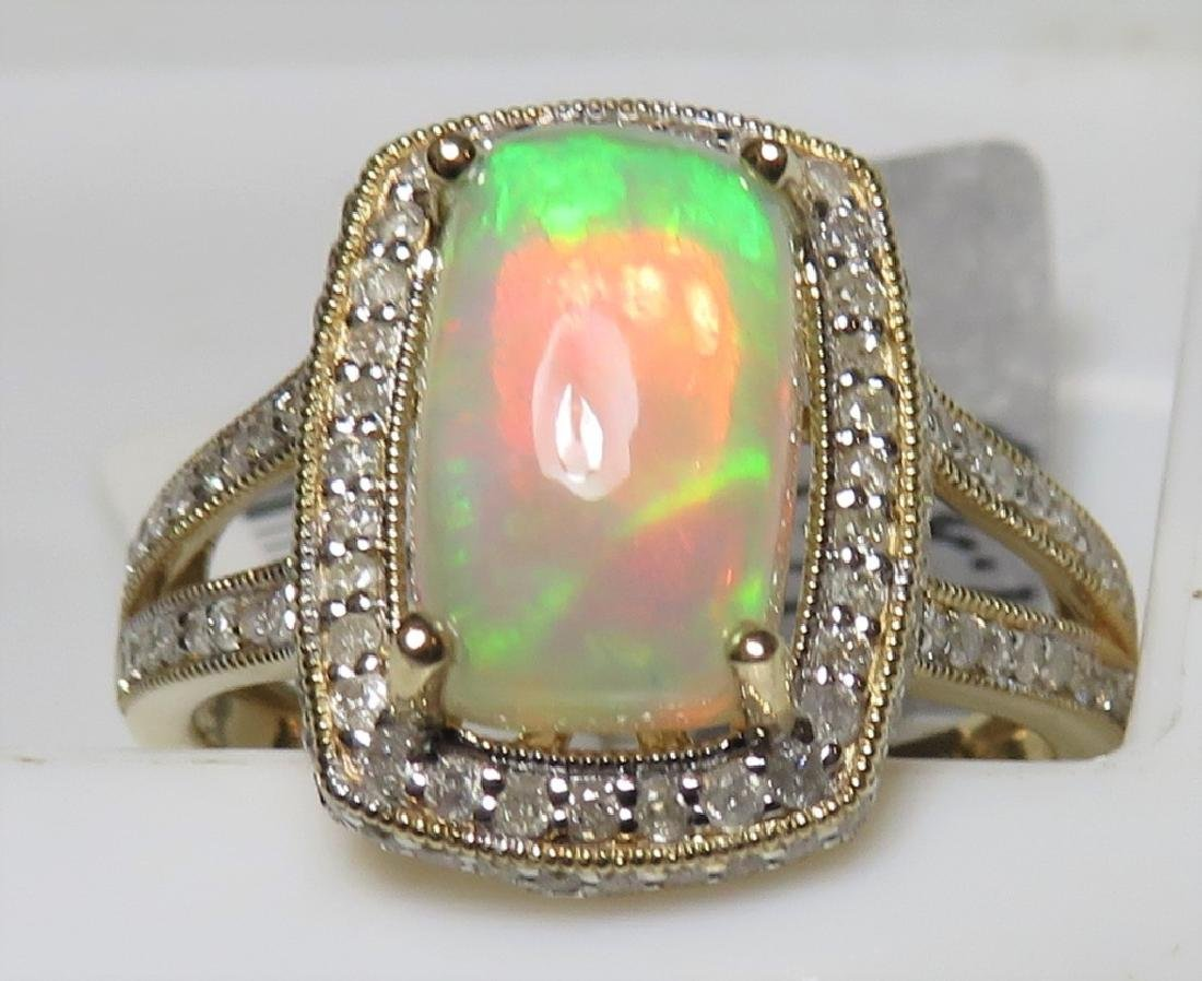 $3336 Opal and Diamond Ring