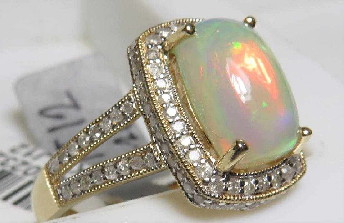 $3336 Opal and Diamond Ring - 2