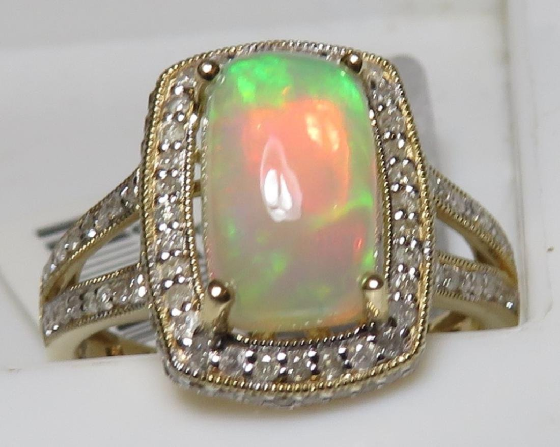 $3336 Opal and Diamond Ring - 5