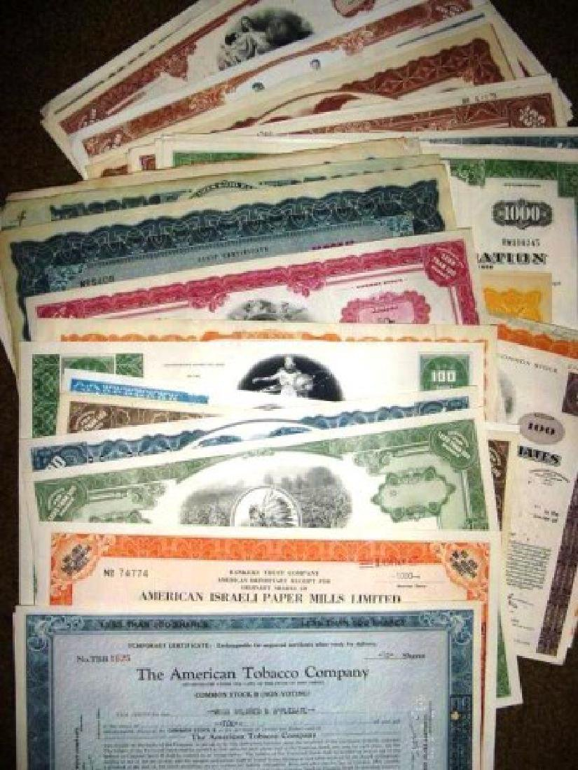 (50) Obsolete Old Stock Certificates- COOL Artwork