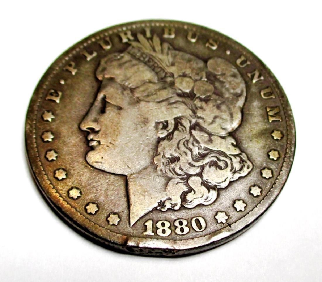 1880 CC Morgan Silver Dollar KEY DATE