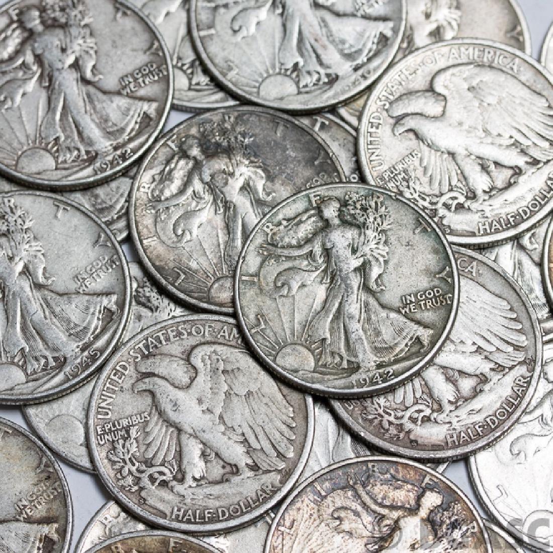 Lot of (50) Walking Liberty Half Dollars - Mixed