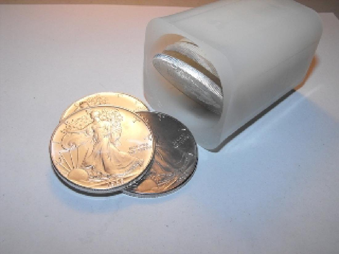 (20) US Silver Eagles - Random Date in Mint Tube