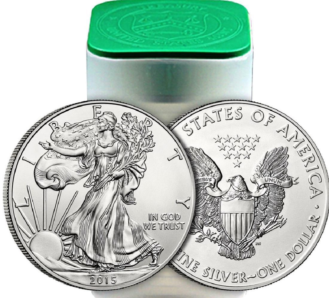 (20) US Silver Eagles - Mint Tubed Random Date