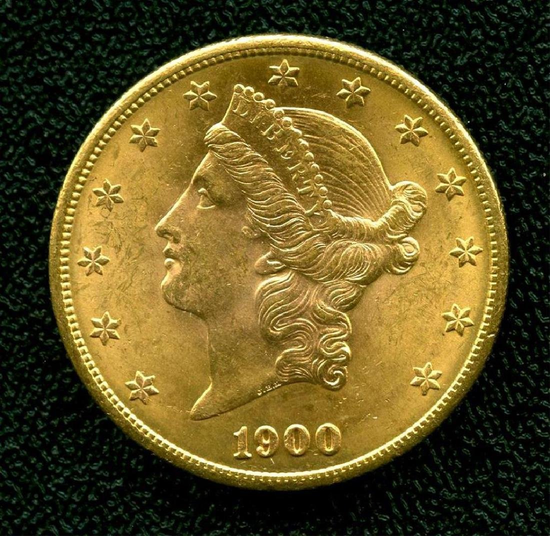 1900 S $ 20 Gold Liberty Double Eagle