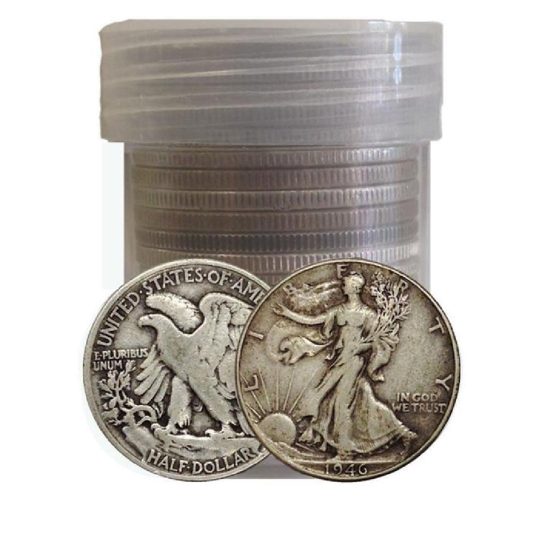 (20) Walking Liberty Half Dollars 90% in Roll