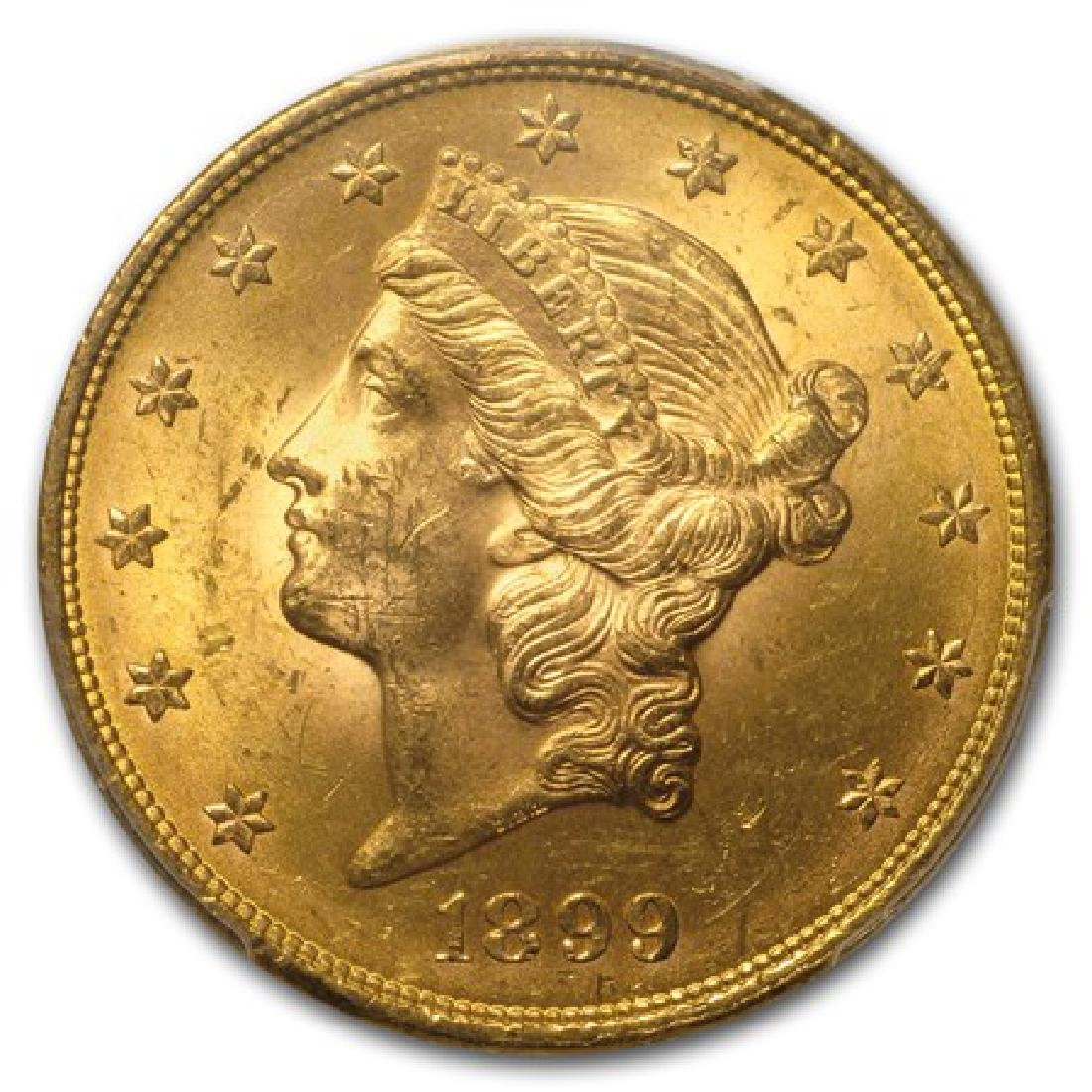 1899 P $20 Gold Liberty Double Eagle
